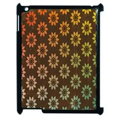 Grunge Brown Flower Background Pattern Apple Ipad 2 Case (black)