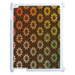 Grunge Brown Flower Background Pattern Apple Ipad 2 Case (white)