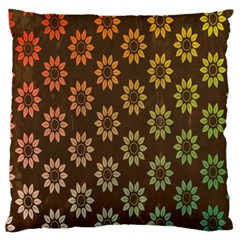 Grunge Brown Flower Background Pattern Large Cushion Case (Two Sides)