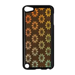 Grunge Brown Flower Background Pattern Apple iPod Touch 5 Case (Black)