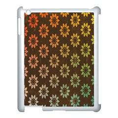 Grunge Brown Flower Background Pattern Apple Ipad 3/4 Case (white)