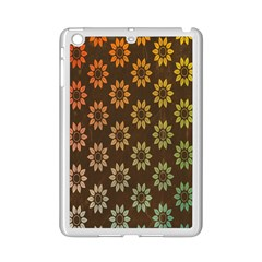 Grunge Brown Flower Background Pattern Ipad Mini 2 Enamel Coated Cases