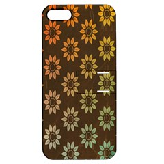 Grunge Brown Flower Background Pattern Apple Iphone 5 Hardshell Case With Stand