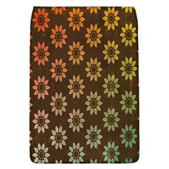 Grunge Brown Flower Background Pattern Flap Covers (L)
