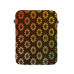 Grunge Brown Flower Background Pattern Apple Ipad 2/3/4 Protective Soft Cases