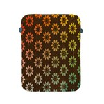 Grunge Brown Flower Background Pattern Apple iPad 2/3/4 Protective Soft Cases Front