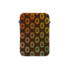 Grunge Brown Flower Background Pattern Apple iPad Mini Protective Soft Cases