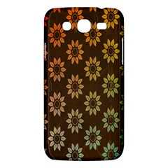 Grunge Brown Flower Background Pattern Samsung Galaxy Mega 5.8 I9152 Hardshell Case