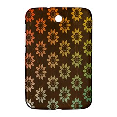 Grunge Brown Flower Background Pattern Samsung Galaxy Note 8 0 N5100 Hardshell Case