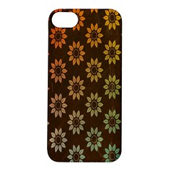 Grunge Brown Flower Background Pattern Apple Iphone 5s/ Se Hardshell Case