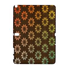 Grunge Brown Flower Background Pattern Galaxy Note 1