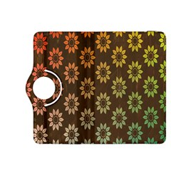 Grunge Brown Flower Background Pattern Kindle Fire HDX 8.9  Flip 360 Case