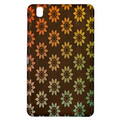 Grunge Brown Flower Background Pattern Samsung Galaxy Tab Pro 8 4 Hardshell Case