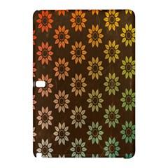 Grunge Brown Flower Background Pattern Samsung Galaxy Tab Pro 12.2 Hardshell Case