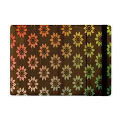Grunge Brown Flower Background Pattern iPad Mini 2 Flip Cases