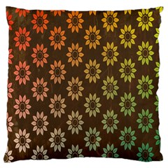 Grunge Brown Flower Background Pattern Large Flano Cushion Case (One Side)