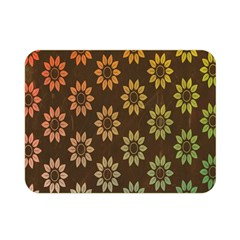 Grunge Brown Flower Background Pattern Double Sided Flano Blanket (mini)