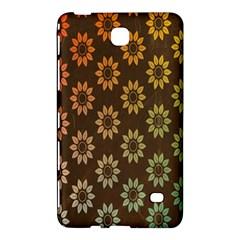 Grunge Brown Flower Background Pattern Samsung Galaxy Tab 4 (7 ) Hardshell Case