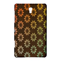 Grunge Brown Flower Background Pattern Samsung Galaxy Tab S (8.4 ) Hardshell Case