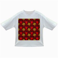 Digitally Created Seamless Love Heart Pattern Tile Infant/toddler T Shirts