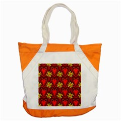 Digitally Created Seamless Love Heart Pattern Tile Accent Tote Bag