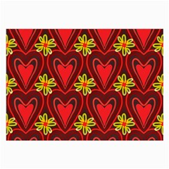 Digitally Created Seamless Love Heart Pattern Tile Large Glasses Cloth