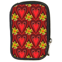 Digitally Created Seamless Love Heart Pattern Tile Compact Camera Cases
