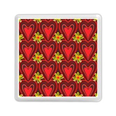 Digitally Created Seamless Love Heart Pattern Tile Memory Card Reader (square)