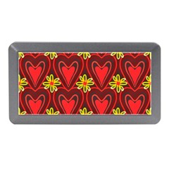Digitally Created Seamless Love Heart Pattern Tile Memory Card Reader (mini)