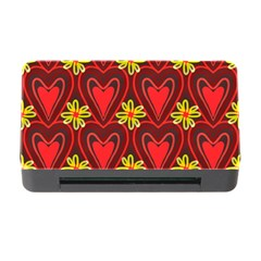 Digitally Created Seamless Love Heart Pattern Tile Memory Card Reader With Cf