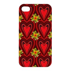 Digitally Created Seamless Love Heart Pattern Tile Apple iPhone 4/4S Hardshell Case