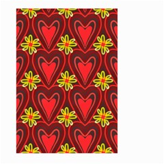 Digitally Created Seamless Love Heart Pattern Tile Large Garden Flag (Two Sides)