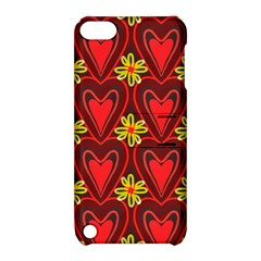 Digitally Created Seamless Love Heart Pattern Tile Apple Ipod Touch 5 Hardshell Case With Stand
