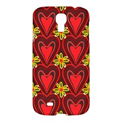 Digitally Created Seamless Love Heart Pattern Tile Samsung Galaxy S4 I9500/I9505 Hardshell Case