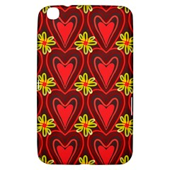 Digitally Created Seamless Love Heart Pattern Tile Samsung Galaxy Tab 3 (8 ) T3100 Hardshell Case