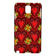 Digitally Created Seamless Love Heart Pattern Tile Samsung Galaxy Note 3 N9005 Hardshell Case
