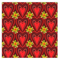 Digitally Created Seamless Love Heart Pattern Tile Large Satin Scarf (square)