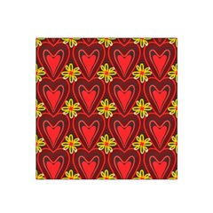 Digitally Created Seamless Love Heart Pattern Tile Satin Bandana Scarf