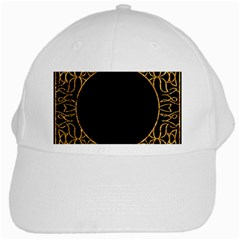 Abstract  Frame Pattern Card White Cap