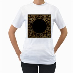 Abstract  Frame Pattern Card Women s T Shirt (white) (two Sided)