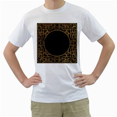 Abstract  Frame Pattern Card Men s T-Shirt (White) (Two Sided)