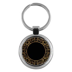 Abstract  Frame Pattern Card Key Chains (Round)