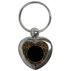 Abstract  Frame Pattern Card Key Chains (heart)