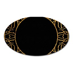 Abstract  Frame Pattern Card Oval Magnet