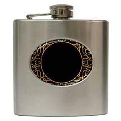 Abstract  Frame Pattern Card Hip Flask (6 Oz)