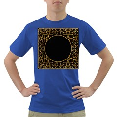 Abstract  Frame Pattern Card Dark T-Shirt