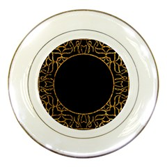 Abstract  Frame Pattern Card Porcelain Plates