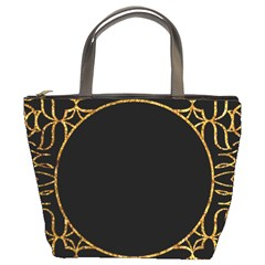 Abstract  Frame Pattern Card Bucket Bags