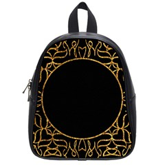 Abstract  Frame Pattern Card School Bags (small)