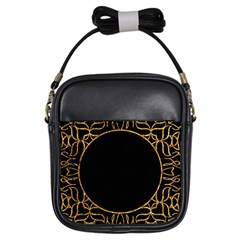 Abstract  Frame Pattern Card Girls Sling Bags